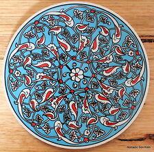 Turkish ceramic trivet ROUND- traditional Ottoman designs,16cm diameter #21