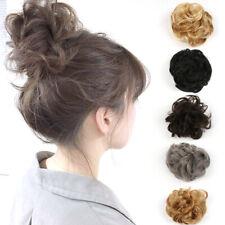 "6"" Curly Messy Bun Hair Piece Bobble Scrunchie Fake as human Hair Extensions UK"