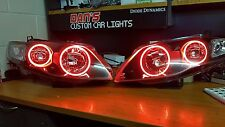 Ford Falcon FG mk1 XR6 XR8 G6E FPV headlights with multicoloured halo rings