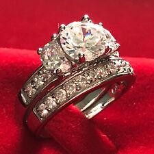 Engagement Wedding Ring Set Bhsn Sz6-9 5ctw* Round Cz Solid 925 Silver Vintage