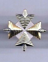 "Star Trek Movies Uniform 4 Point Admiral Insignia Rank Pin 1.5"" Gold/Silver"