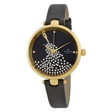 Kate Spade Holland Black Crystal Dal Ladies Watch KSW1234