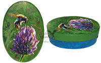 Hand bemalte Schachtel Hummel Kunst Tier hand painted box bumblebee animal art
