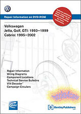 SHOP MANUAL SERVICE REPAIR BOOK VOLKSWAGEN JETTA GOLF GTI CABRIO BENTLEY DVD