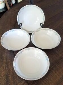 4 Illusions By Excel Scene I Cereal Salad Bowls  6.5 inch  Floral