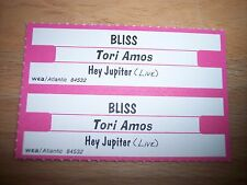 "2 Tori Amos Bliss / Hey Jupiter Live Jukebox Title Strips CD 7"" 45RPM Records"
