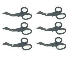 6 Black Utility Scissors Emtems Shears Bandage Paramedic Nurse Supplies 725