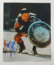 Autographed Russell Crowe Color Still Photo in Gladiator