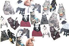 22pc black bear Stickers lot Die-cuts for junk bullet journal scrapbook