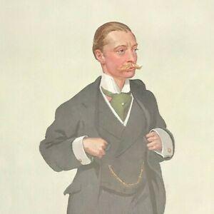 Harold John 'Jack' Tennant DANGEROUS TRADE Vanity Fair Print Original 1909