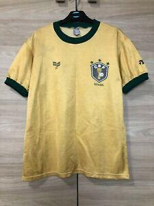 Brazil Brasil 1980's World Cup Vintage Topper Home Shirt Jersey Ultra Rare