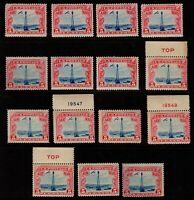 Wholesale lot (15) U.S. C11 Airmail Mint, og, Never Hinged (cv$150.00)