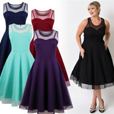 Ladies Women Wedding Bridesmaid Evening Party Ball Prom Gown Dresses Vintage 50s