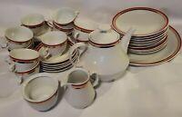 Colditz Porzellan MCM Germany Tea Pot Cups Saucers Plates Platter Set of 36 READ