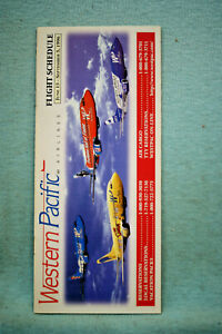 Western Pacific Airlines Timetable, Jun 15 - Sept 5, 1996
