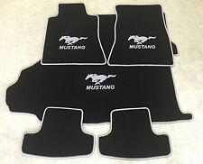 Autoteppich Fußmatten Kofferraum Set für Ford Mustang Coupe silber ab 2015 5tlg