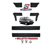 KIT MODANATURE PROTEZIONI LATERALI NERE FIAT PANDA 4X4 '86> + MOLLETTE FISSAGGIO