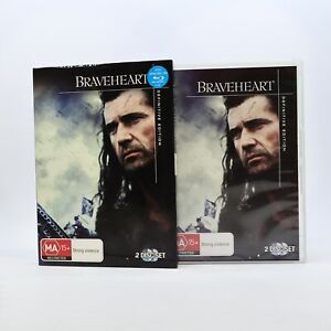 Braveheart Definitive Edition Mel Gibson 2009 DVD R4 Movie Good Condition