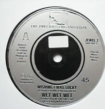"WET WET WET - Wishing I Was Lucky - Excellent Con 7"" Single Precious JEWEL 3"