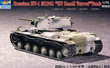 Trumpeter Russian KV-1 M1941 Small Turret Tank Panzer Modell-Bausatz 1:72 Soviet