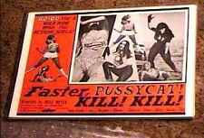 FASTER PUSSYCAT KILL KILL 1965 LOBBY CARD #2 RUSS MEYER CLASSIC
