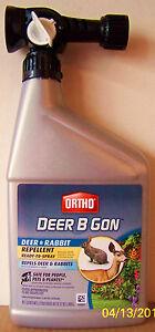 ORTHO DEER B GON - Deer & Rabbit Repellent - 32 Ounce Hose-End Spray - No Stink