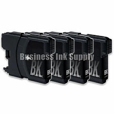 4 BLACK New LC61 Ink Cartridge for Brother MFC-495CW MFC-J410W MFC-295CN LC61BK