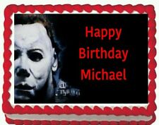 Halloween Michael Myers Birthday Party Edible Cake Topper 1/4 sheet