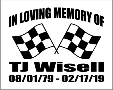 100x In Loving Memory Decals for tripleb_2008 - in Midnight Blue