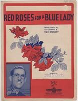 1948 VINTAGE RED ROSES for a BLUE LADY SHEET MUSIC - JIM GUSSEY, SID TEPPER