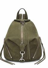 Rebecca Minkoff Julian Backpack Medium Green Leather Silver Hardware