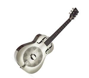 Resonator Guitar Nickel plated Steel body Biscuit domed resonator cone by Ozark