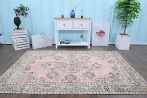 Pink Turkish Rug Room Rug Persian Style Handmade Rug Large Rug  204 X 163 CM