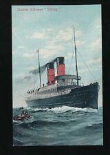 Shipping IOM Isle of Man Steam Packet Co Turbine Steamer VIKING c1910/20s? PPC