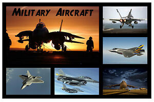 Militär Flugzeug - Spaß Souvenir Neuheit Kühlschrank Magnet - Gift / Xmas -