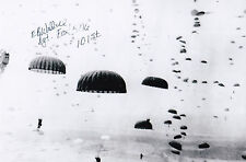 E.B Wallace Signed 4x6 Photo D-Day 506th PIR 101st Airborne Fox Co Market Garden