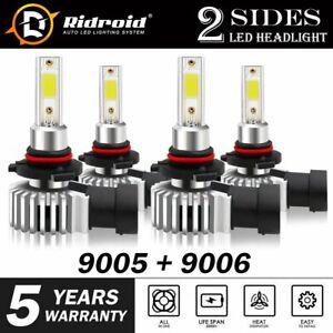 4X 9005+9006 Combo 4400W CREE LED Headlight Kit High & Low Beam Light Bulb Power