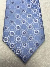 IKE BEHAR MENS TIE SKY BLUE WITH WHITE AND GREEN 3.5 X 61