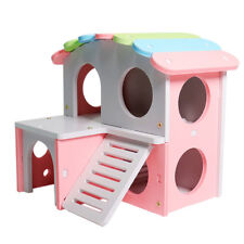 Wooden House Villa Toy for Cage Small Animal Hamster Rat Mice Ferret Gerbil