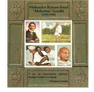 Guyana - 1998 - Mahatma Gandhi - Sheet of Four - MNH