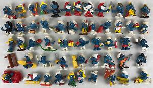 Vintage Lot 52 Smurfs Peyo Bully Schleich Germany PVC Figures 1970s, 1980s