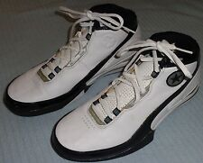 Converse White Black Leather Basketball Shoes Sneakers Size 11-1/2