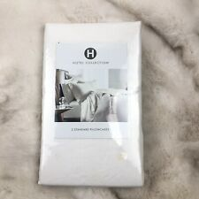 Hotel Collection 2 STANDARD Pillowcases Linen Collection White