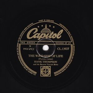 HANK THOMPSON 78 THE WILD SIDE OF LIFE -later by STATUS QUO Capitol CL13977 E/E+