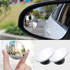 2 X Car Rearview Frameless Wide Glass 360° Angle Convex Round Blind Spot Mirror