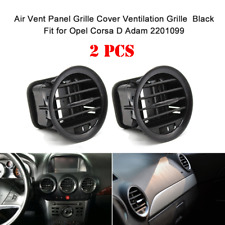 2 PCS AIR VENT NOZZLE GRILLE PIANO BLACK FOR OPEL CORSA D ADAM 2201099 Q0K3