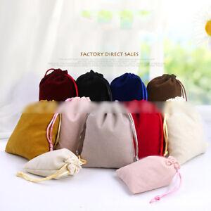5pcs Soft Velvet Jewellery Drawstring Wedding Gift Bag Favour Pouches Bags