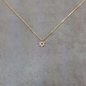 Star of David GOLD Necklace in Gift Box Shield Jewish Zionist Jew Hexagram