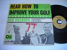 Bob Rosburg Hear How to Improve Your Golf 1960 LP VG++