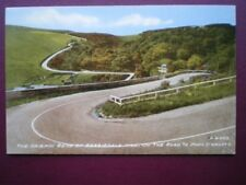 POSTCARD CAITHNESS THE HAIRPIN BEND OF BERRIEDALE HILL ON THE ROAD TO JOHN O'GRO